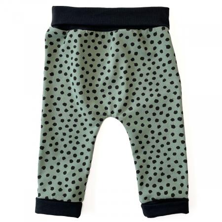Tepláčky Bellou Green Dots - 62-68