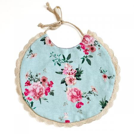 Bryndáček Turquoise Flowers s krajkou