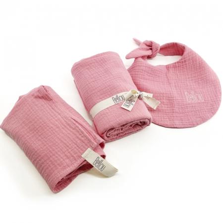 Set Triple Rose Pink Muslin