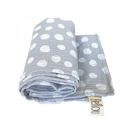 Plena Muslin 70x70 Grey Dots