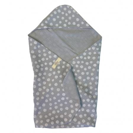 Lehká osuška Muslin Grey Dots