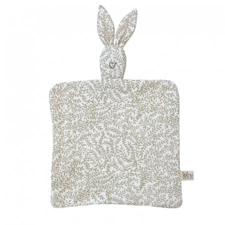 Muchláček Cream Leaves Bunny