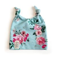 Čepička Bellou Nubby Turquoise Flowers